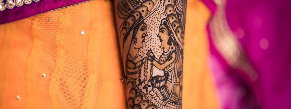 """Mehandi Ceremony in an Indian Wedding"""